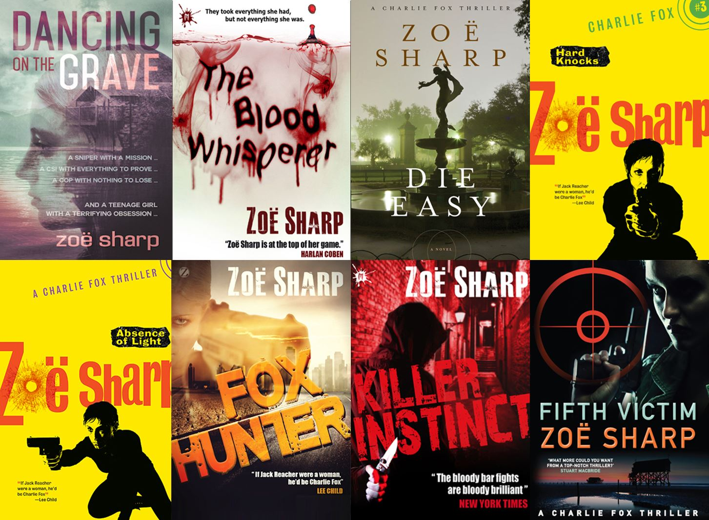 Female-led crime series: Charlie Fox – Interview with author Zoë Sharp